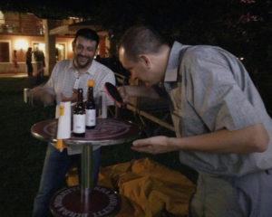 Tavolo estremo per pongisti dal tocco sensibile
